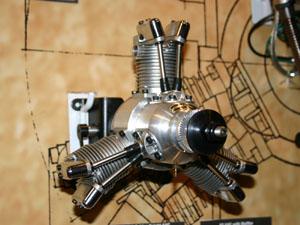 Saito FA-200R3 Glow Radial Engine